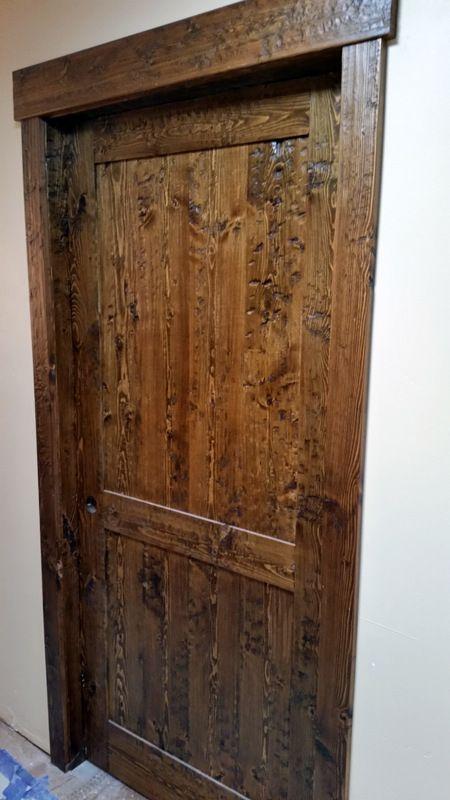 Hand Scraped Doug Fir Interior Door From Sustainable Lumber Co.