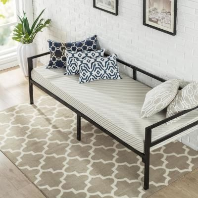 Zinus Brandi Quick Lock 30 In Wide Day Bed Frame And Foam