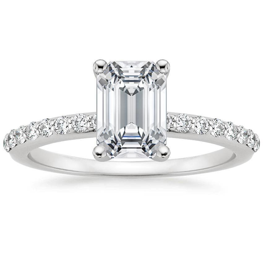 TAKE THE HINT!!!!!!  18K White Gold Petite Shared Prong Diamond Ring (1/4 ct. tw.) from  Brilliant Earth