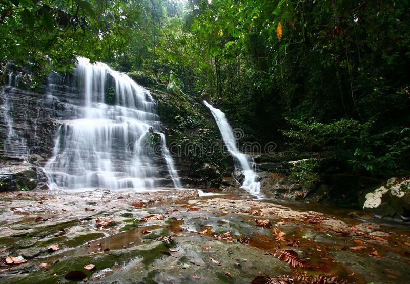 Kubah Waterfall In The Kubah National Park Kuching Sarawak Malaysia Spon National Waterfall Kubah Waterfall Stock Photography Free National Parks