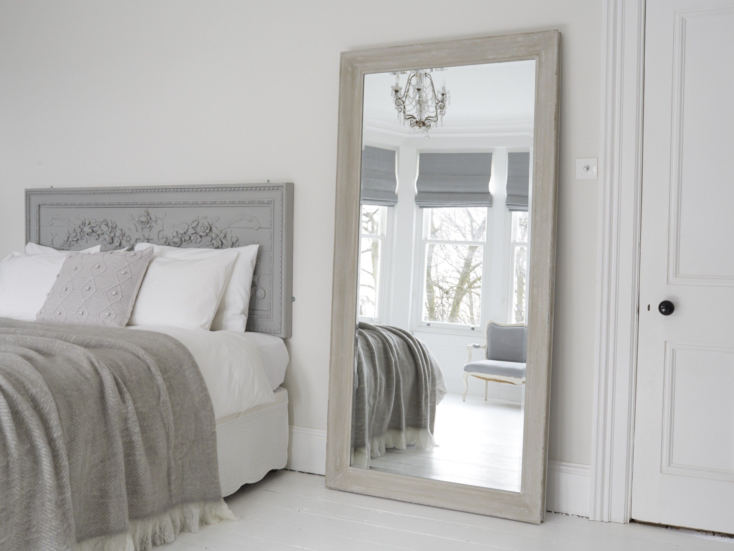 Firebrandcattery Creating Oversized Wall Mirrors: Aspen Mirror - Patina Grey In 2019