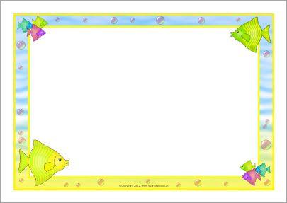 Fish A4 page borders (SB7462) - SparkleBox | Page borders | Pinterest