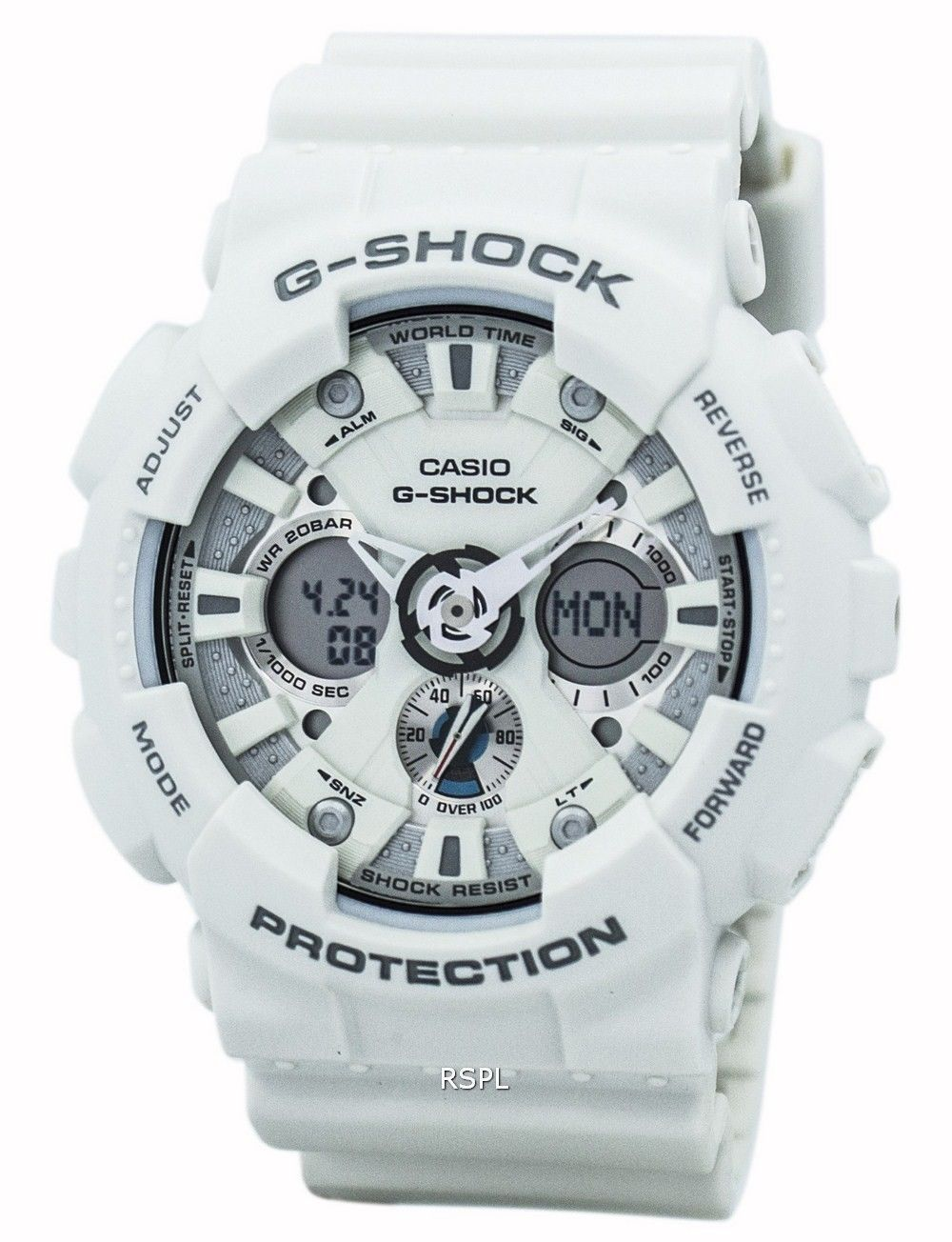 Casio G Shock Ga 120trm 7a White Mens Watch Update Daftar Harga 201tr 7adr Jam Tangan Pria Resin 120a 7 Analog Digital