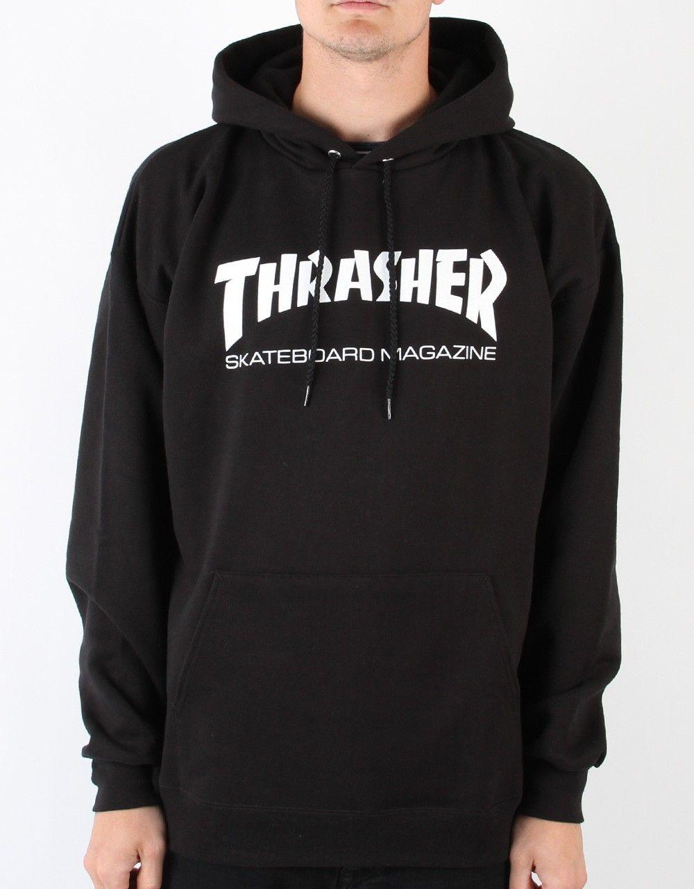 Thrasher Skate Mag Pullover Hood Black Sweat Hoodie Thrasher Skate Thrasher [ 1280 x 1000 Pixel ]
