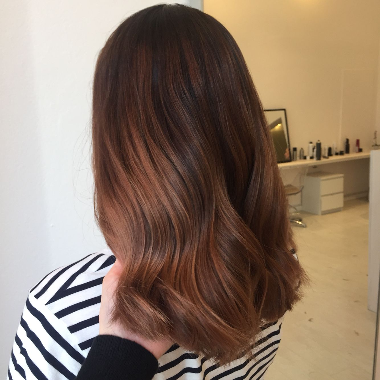 Brown hair balayage