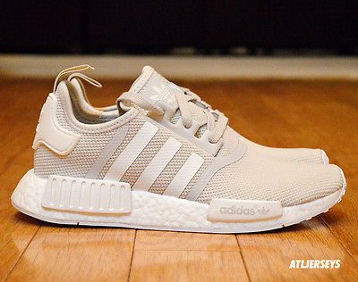 dd92b620e930e Adidas NMD R1 W Womens Nomad Cream Talc Tan Off White Chalk Runner S76007  6-11