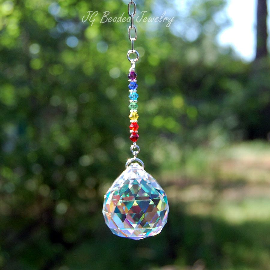 Chakra Crystal Suncatcher Jgbeadedjewelry Offers A Wide Selection