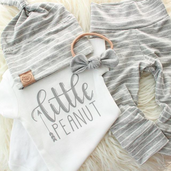 take home outfit flower wreath coming home outfit Custom baby Onesie\u00ae newborn gift baby shower gift Personalized baby girl Onesie\u00ae