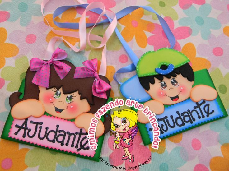 Gafetes De Fomi Creativos Imagui Fofu Niños Escolares Niños Y