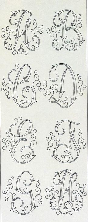 Letras Con Adornos Numeros Y Masnmeros Pinterest Embroidery