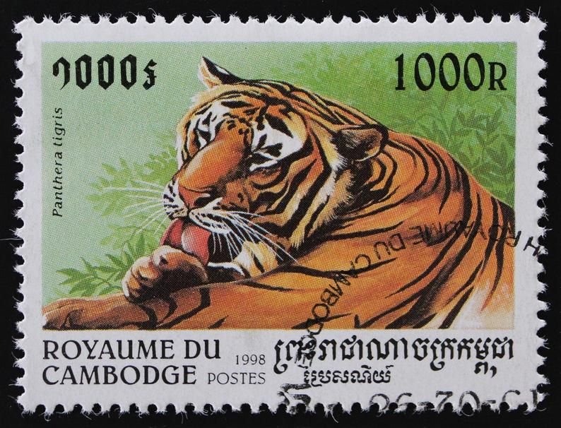 Year of the Tiger Postage Stamp Set // Cambodia 1998