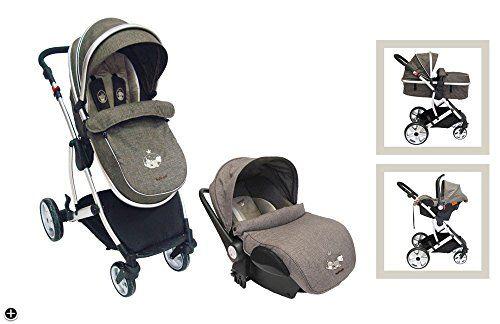Cochecito nattou 4 ruedas + Grupo 0+ Max, Noa y Tom - Escos  #niños http://carritosbebe.org/producto/cochecito-nattou-4-ruedas-grupo-0-max-noa-y-tom-escos/