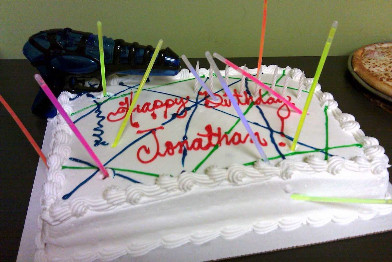 Lazer Tag Cakes