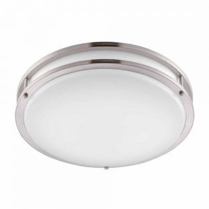 Bathroom Ceiling Light Fixtures Flush Mount Httpwlolus - Brushed nickel bathroom ceiling light fixtures