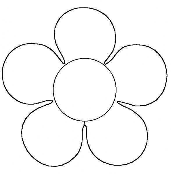 sjabloon bloem thema lente