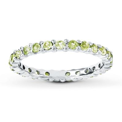 August birthstone ring Peridot Jareds 3 baby love Pinterest