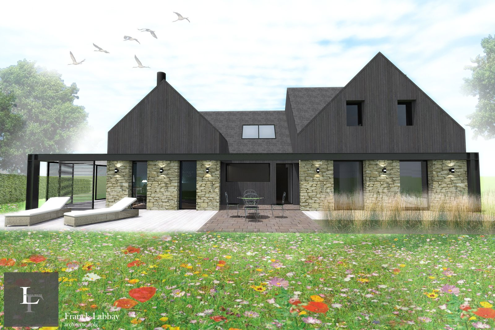 Agrandissement Maison Néo Bretonne maison g - extension et renovation d'une maison neo bretonne