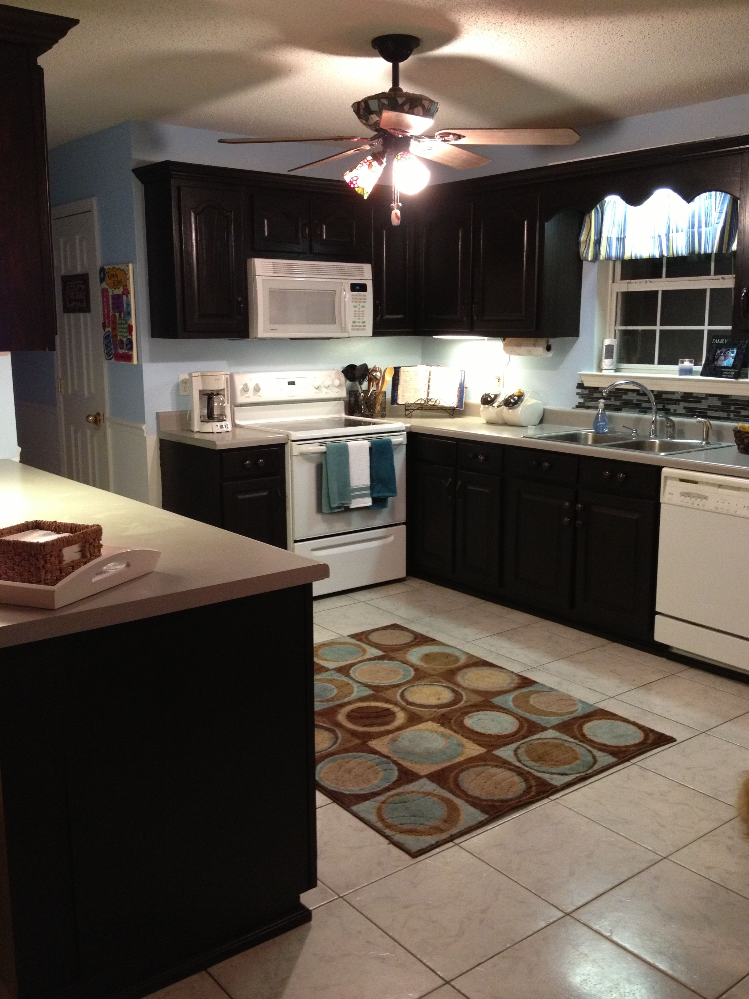 Kitchen renovation from builder grade oak cabinets to ...