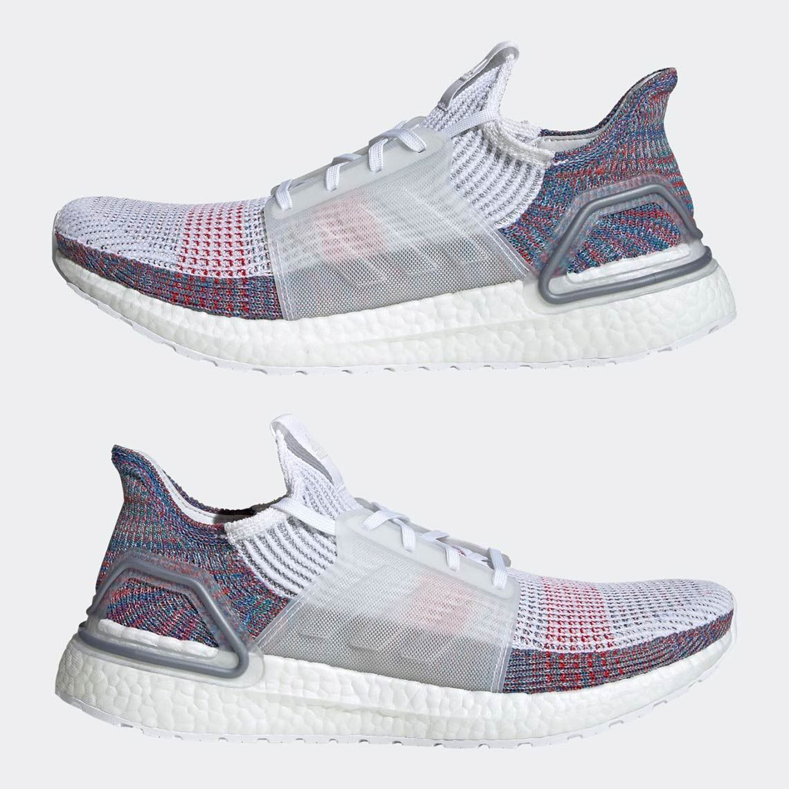 Adidas Ultra Boost 2019 White and Multi color Primeknit 360