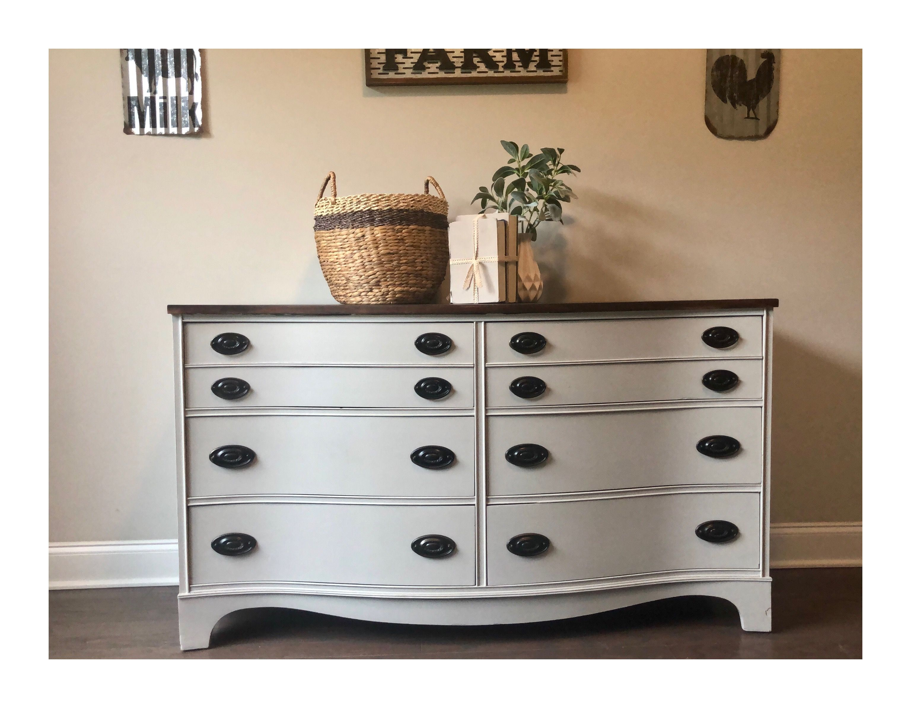 Painted This In A Light Gray Gel Stained Top Painted The Handles Black Furnituremakeover Furniturepai Flipping Furniture Furniture Makeover Diy Furniture [ 2386 x 3072 Pixel ]