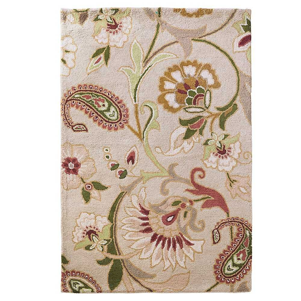 Fieldcrest Jacobean Floral Brown Rug Uniquely Modern Rugs