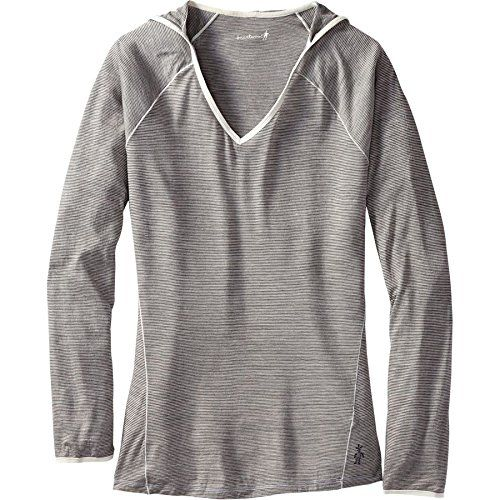 3acdeb5c9e46 Smartwool Women s NTS Micro Pattern Hoodie Silver Gray Heather Sweatshirt  MD 150. Camping Outfits