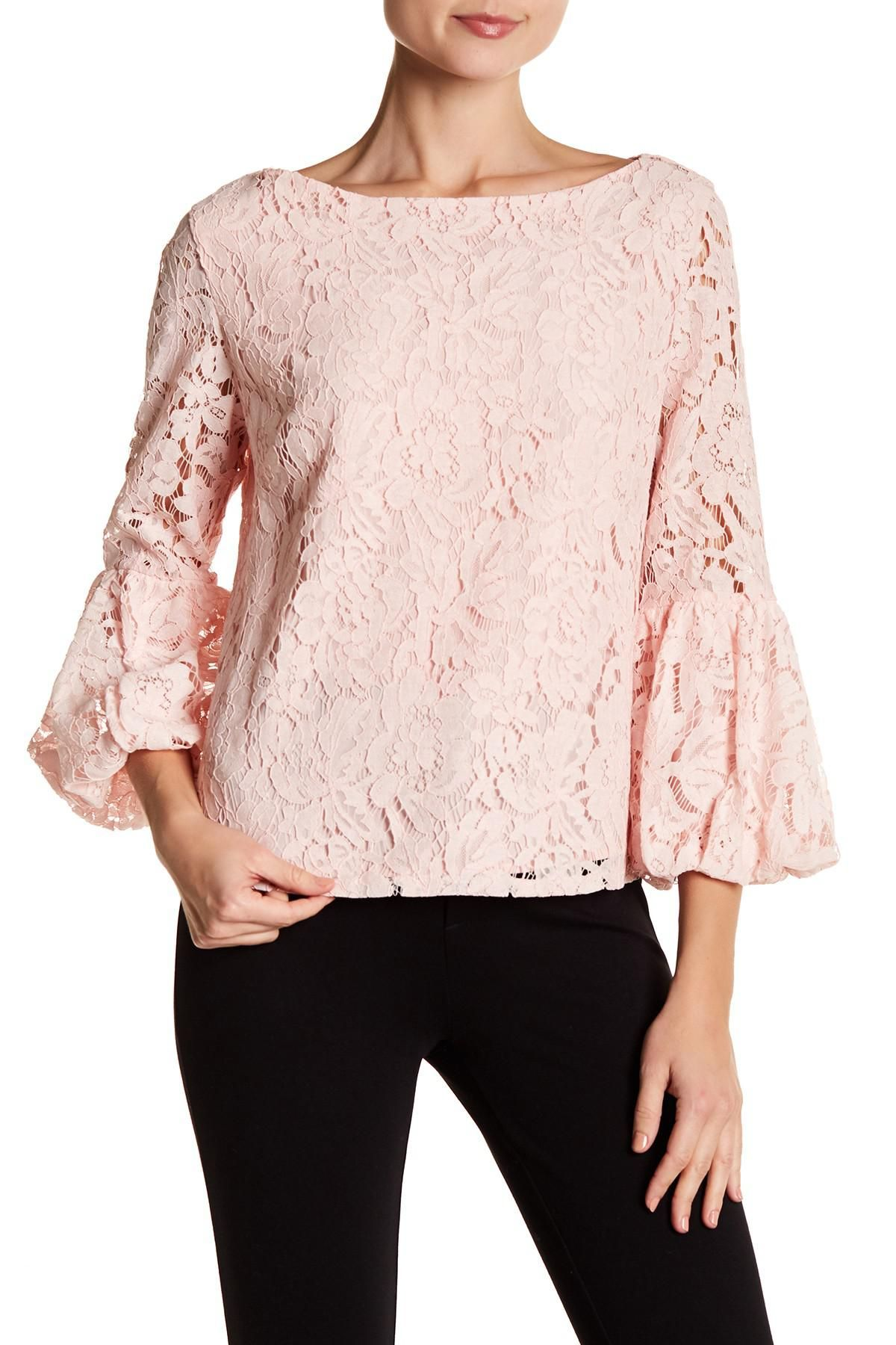Laundry By Shelli Segal Pink Lace Blouse Google Search Pink
