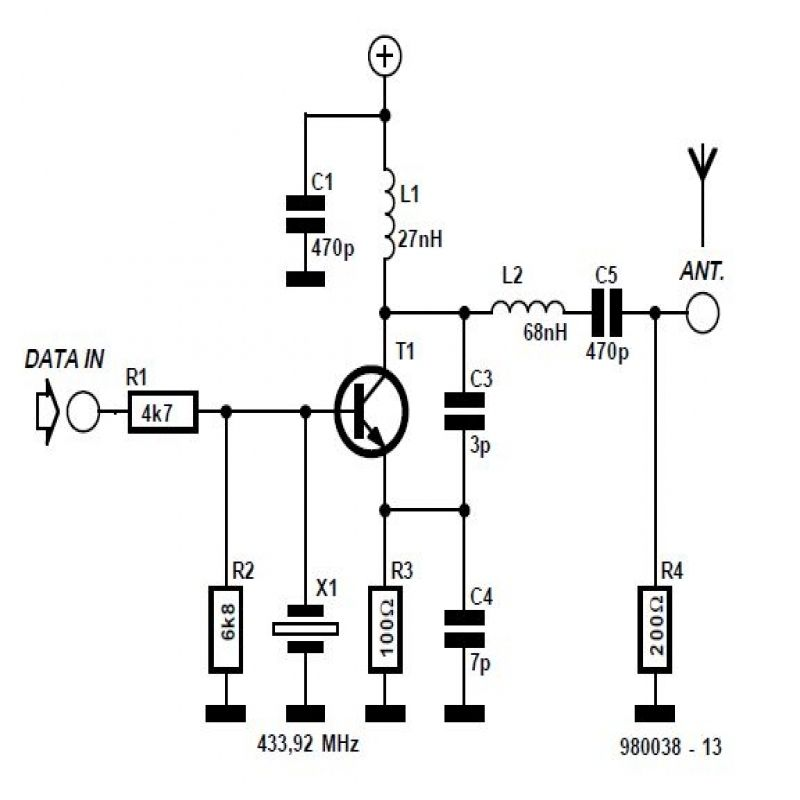 Rf Module 433mhz Circuit Diagram Circuit Diagram