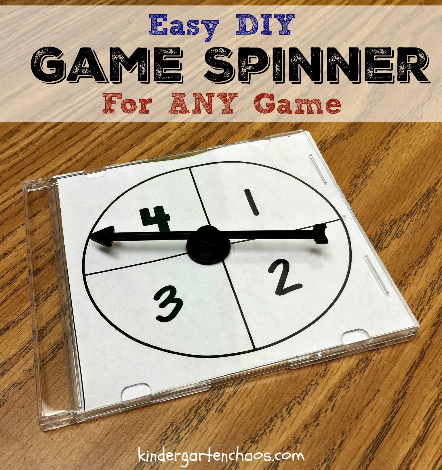 Make Your Own Interchangeable Game Spinner For The