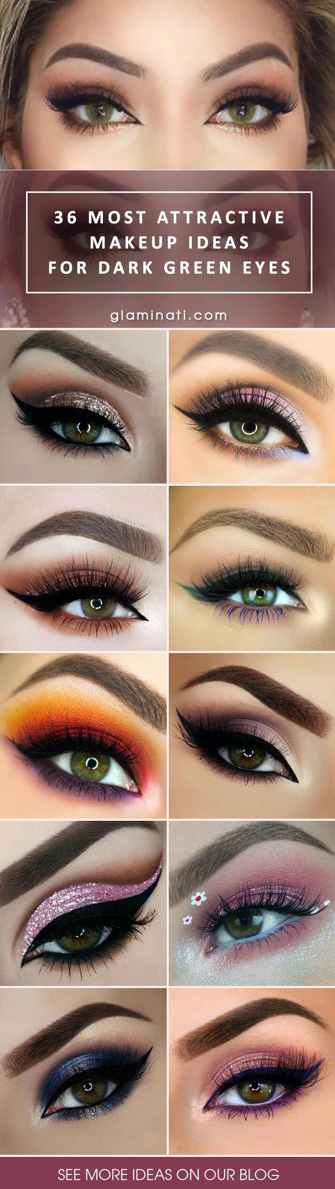 42 most attractive makeup ideas for dark green eyes | eye