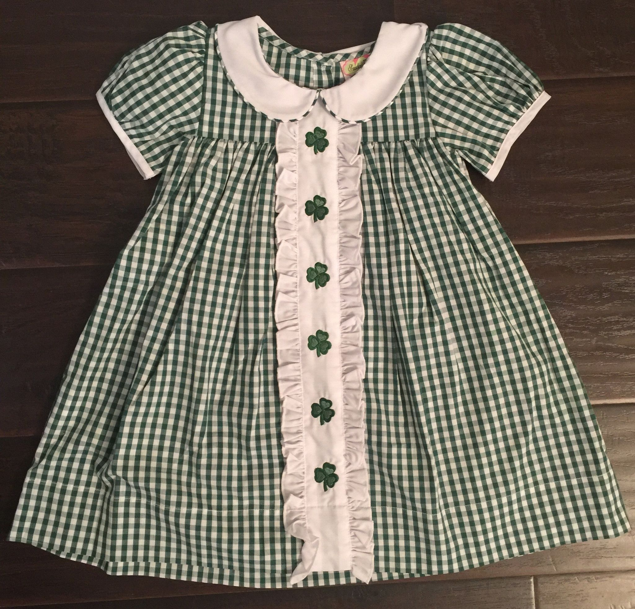 4d5dd29c0 Shamrock Green Check Embroidered Dress $25 | St. Patrick's Day ...