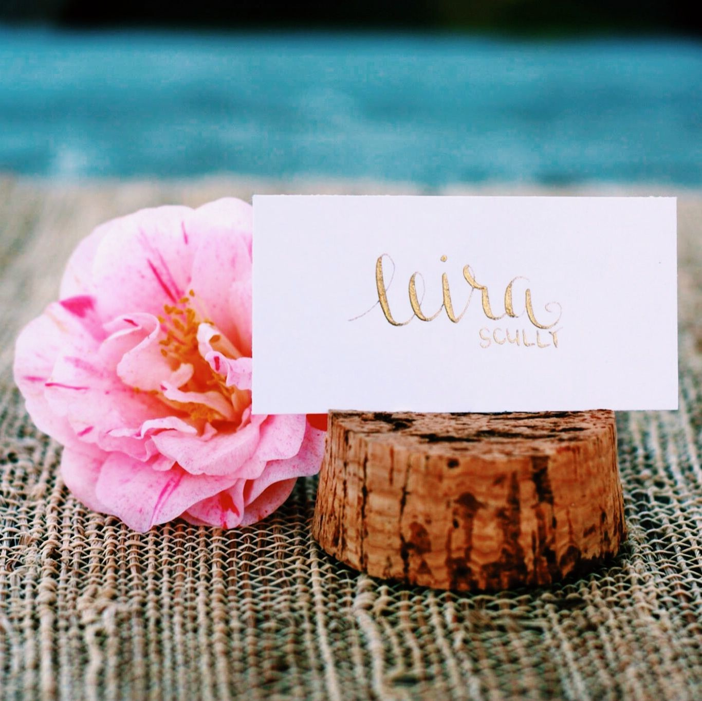 Beautiful Dinner Party Name Ideas Part - 10: Wedding Place Cards - Escort Card - Gold / Black Calligraphy - Dinner Party  - Name