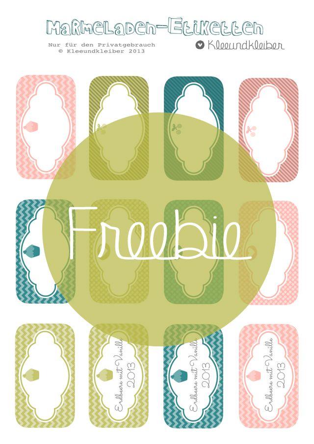 kleeundkleiber freebie marmeladen etiketten freebie f r gl ser pinterest marmeladen. Black Bedroom Furniture Sets. Home Design Ideas