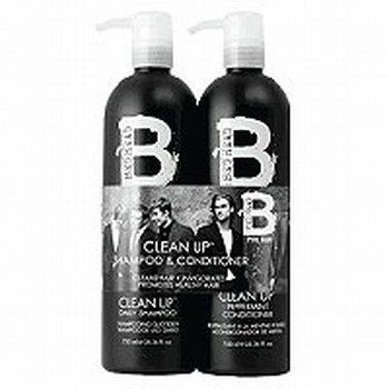 B For Men Clean Up Tween Duo Pack 2x750ml by TIGI. $32.99. Tigi B for Men Clean Up Tween Duo Pack For guys who need to Clean Up  this TIGI B for Men Tween Duo deeply cleanses  conditions  strengthens and stimulates your scalp  leaving you with healthy hair. This great value Tween Duo is the perfect shampoo/conditioner combinatio...