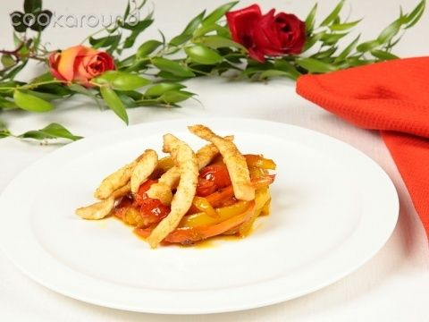 Filetti di pollo piccante ai peperoni   Cookaround