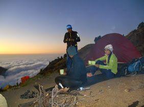 Awesome view on halfway to the top of Mount Rinjani Lombok Nusa Tenggara Barat Indonesia