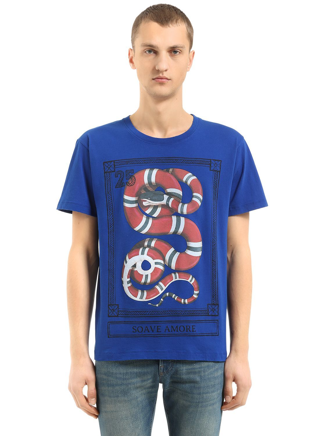 6afc2dc5 GUCCI SNAKE PRINTED COTTON JERSEY T-SHIRT. #gucci #cloth # | Gucci ...