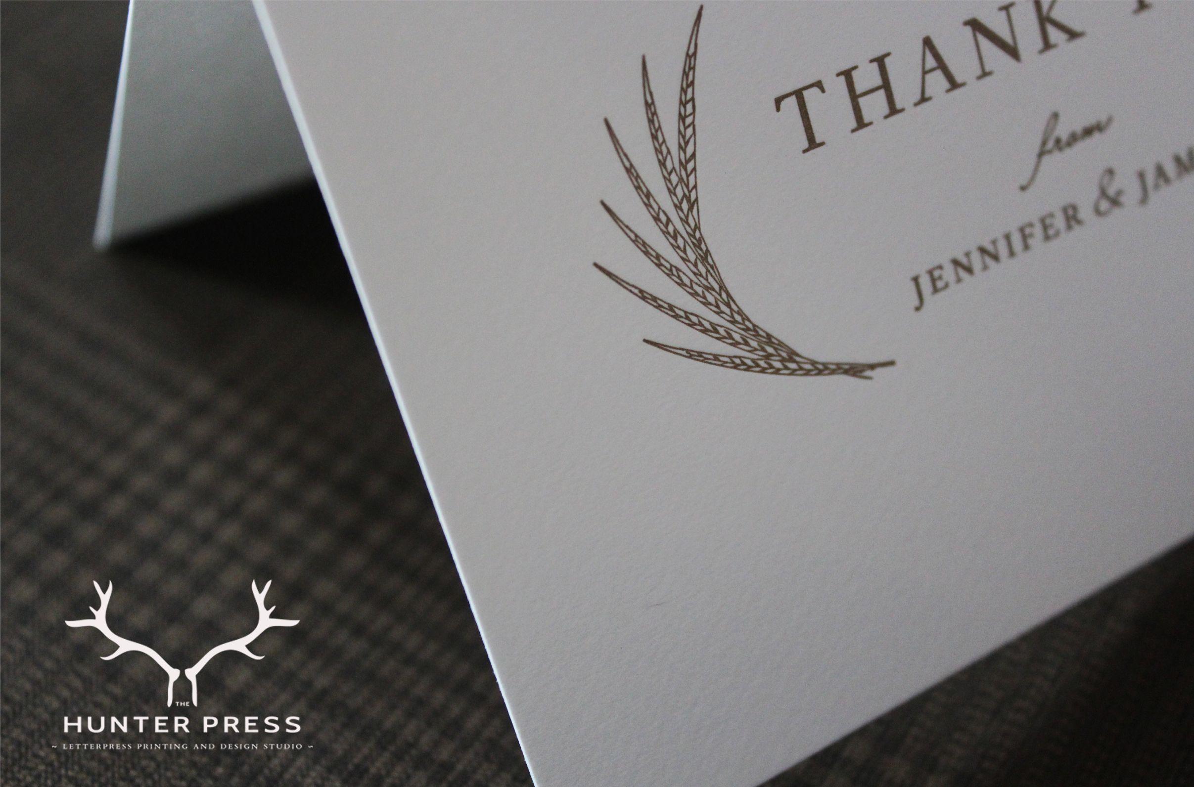 Bespoke Wedding Thank You Cards. The Hunter Press. #letterpress #stationery #thankyou #wedding #scottishinvitations