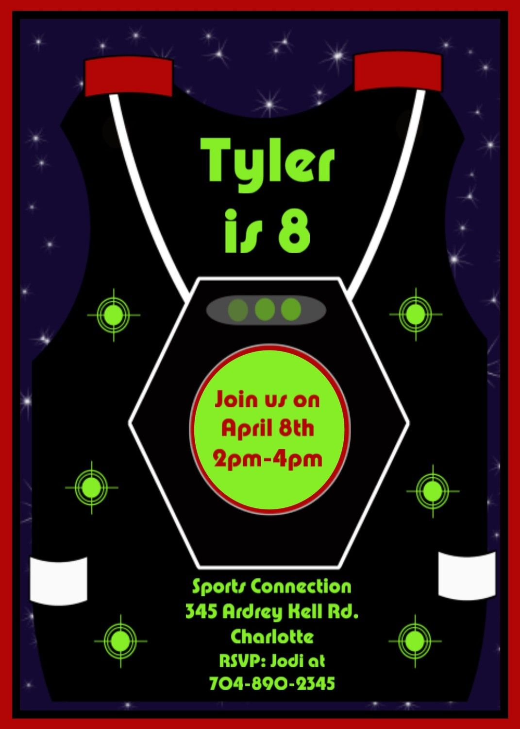 Free Printable Laser Tag Invitations Template Birthday