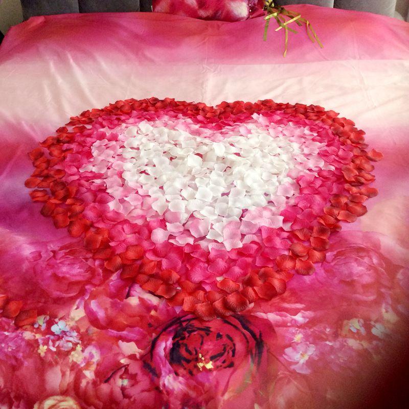 Janevini Konstgjorda Rose Petals 1000pcs Flower Girl Toss Silke