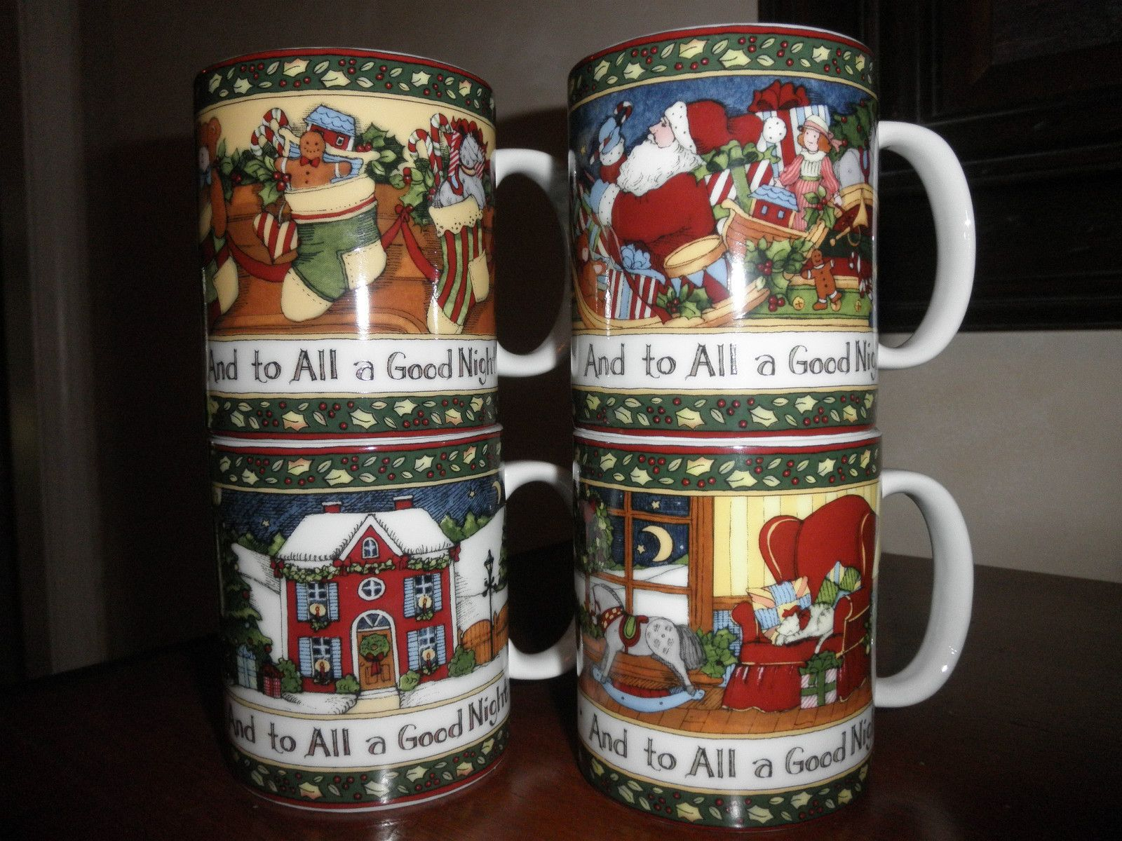 Portmeirion Susan Winget Set of 4 Mugs \