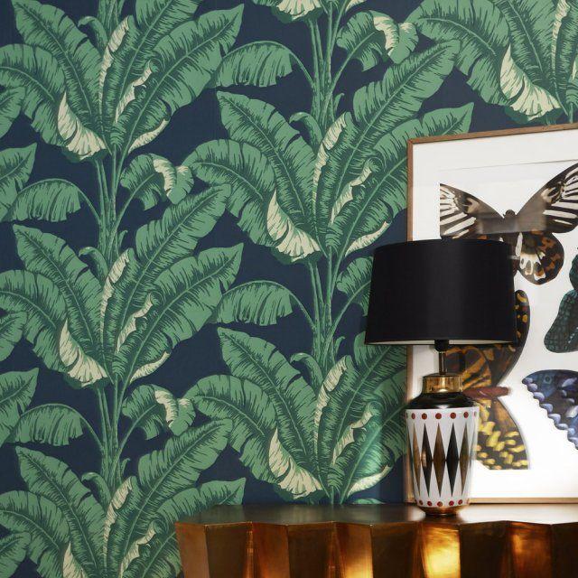 papier peint tropical toutes les nouveaut s pour une d co exotique textile wall paper. Black Bedroom Furniture Sets. Home Design Ideas