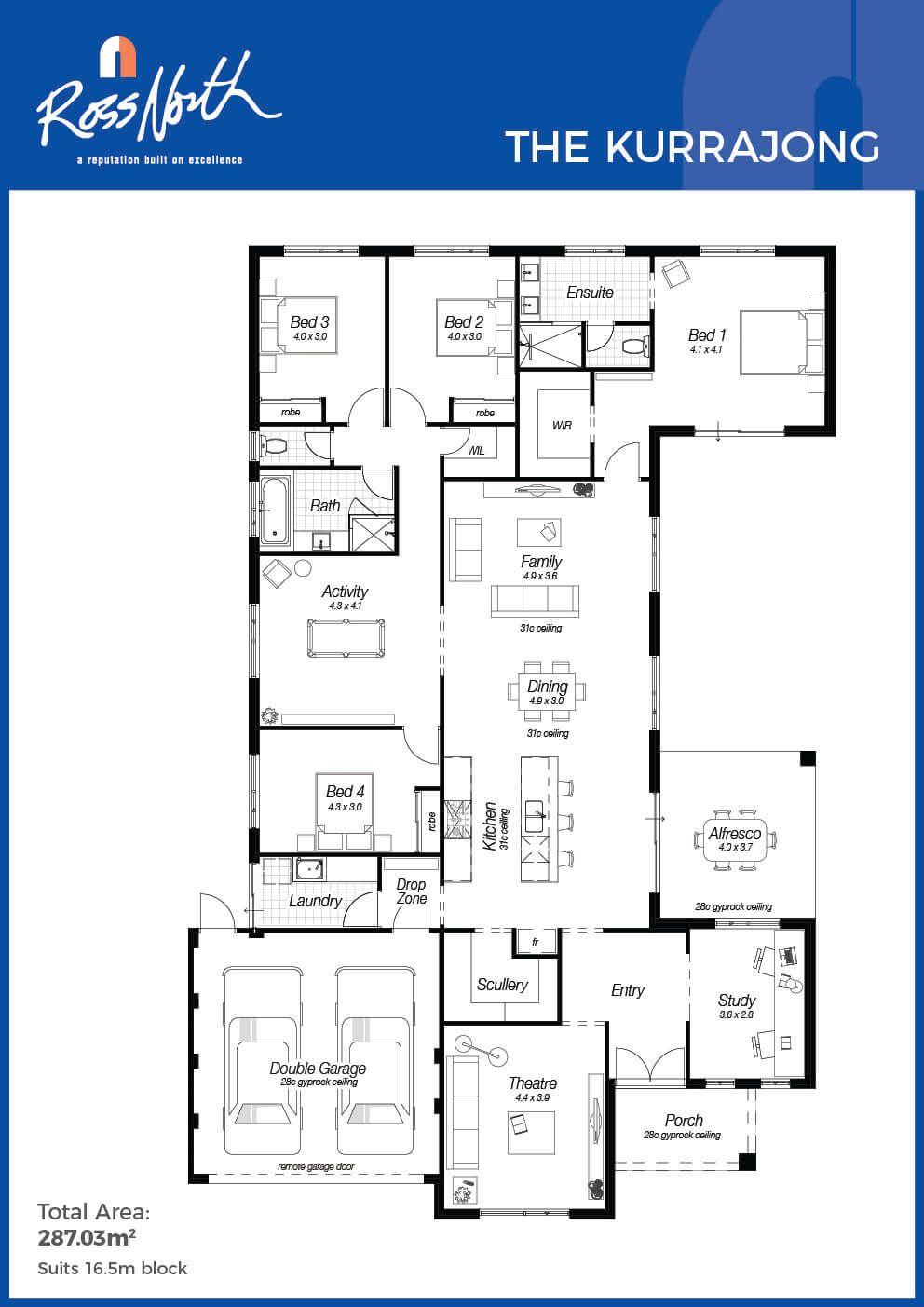 Master bedroom ensuite plans  The Kurrajong  Ross North Homes  All Things House Design