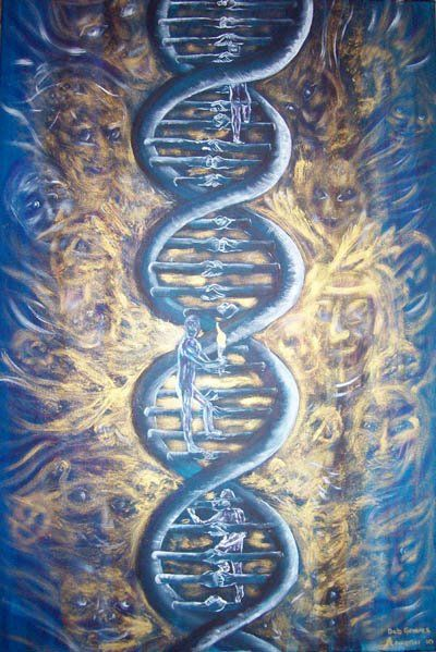 The codes for natural evolution are held within humanity's original 12-stranded DNA and our galactic 64-stranded DNA. These codes carried patterns that would assure that divine beings in earth's dense body suit could rise beyond the heavy vibrations to return to the realm of their beginnings-ascension/evolution.
