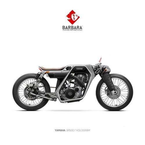 """Yamaha SR500 Cafe Racer design """"Hologram"""" by"""