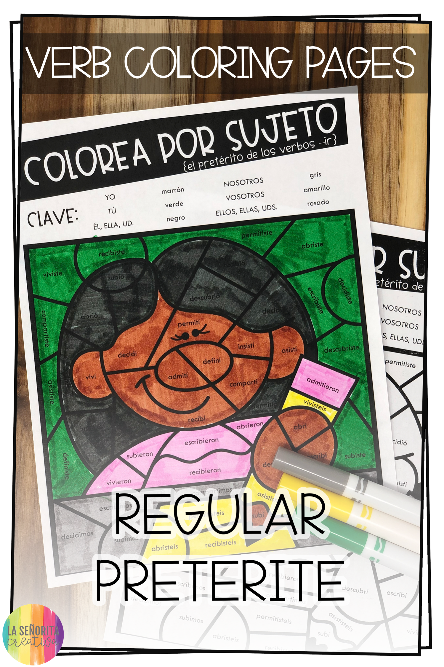 Love This Fun Way To Introduce Practice Or Review Verb Conjugations For The Regular Preterite Tense In Spanish Yo Color Activities Preterite Tense Preterite [ 2249 x 1499 Pixel ]