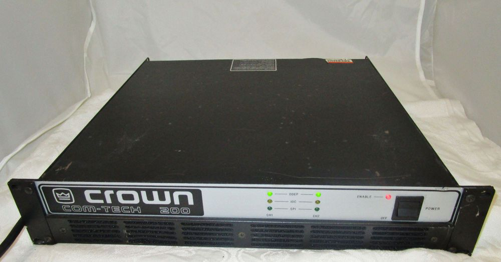 Crown Com-Tech 200 Power Amp Tested and working! #Crownamp