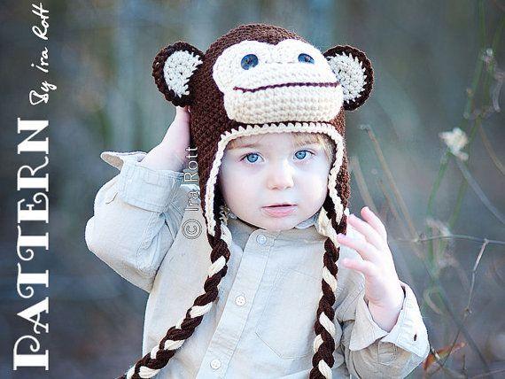 Crochet Pattern Chuck The Chimpanzee Monkey Hat Crochet Pattern In