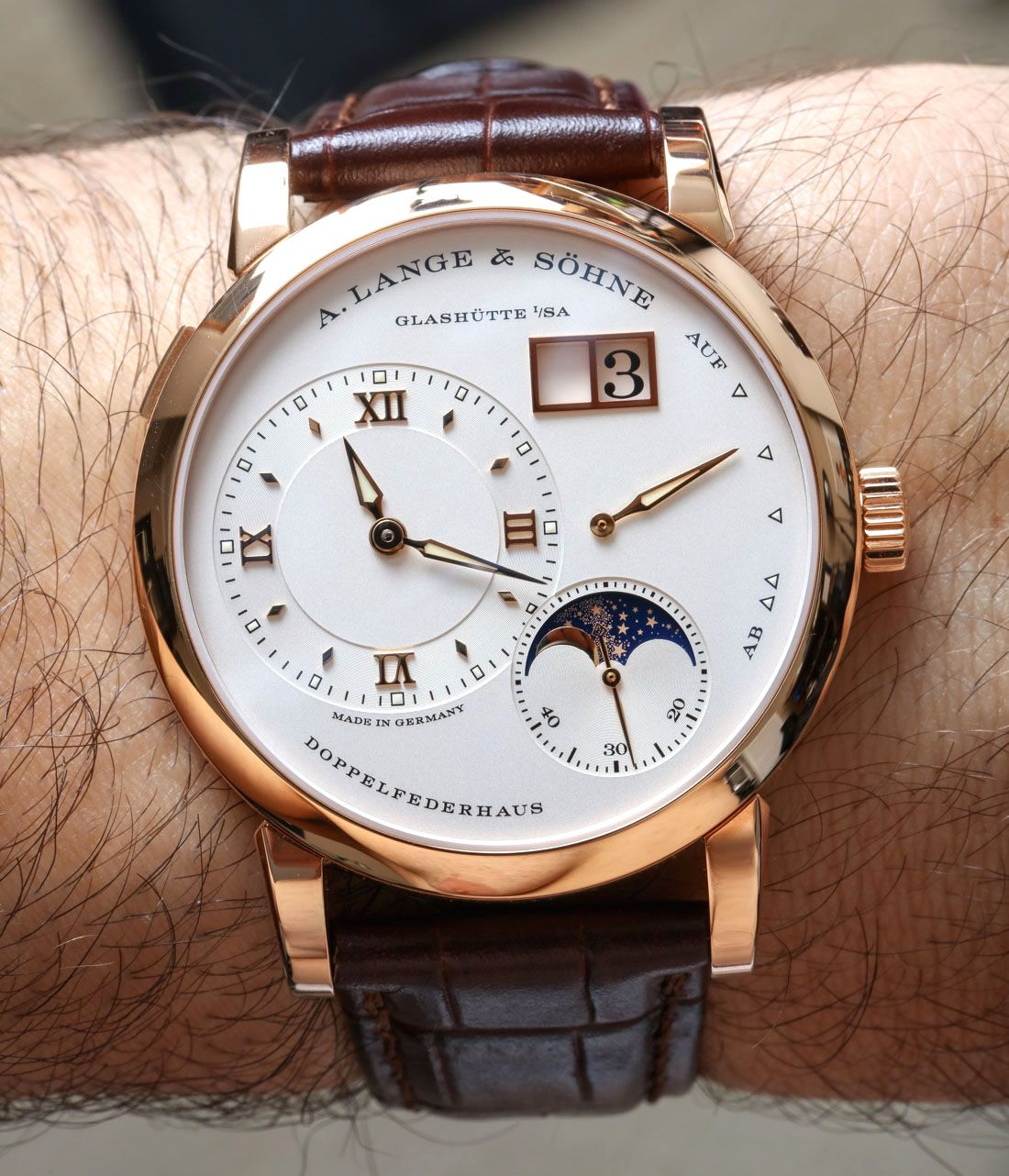 02894338be9 A. Lange   Sohne Lange 1 Moon Phase Watch