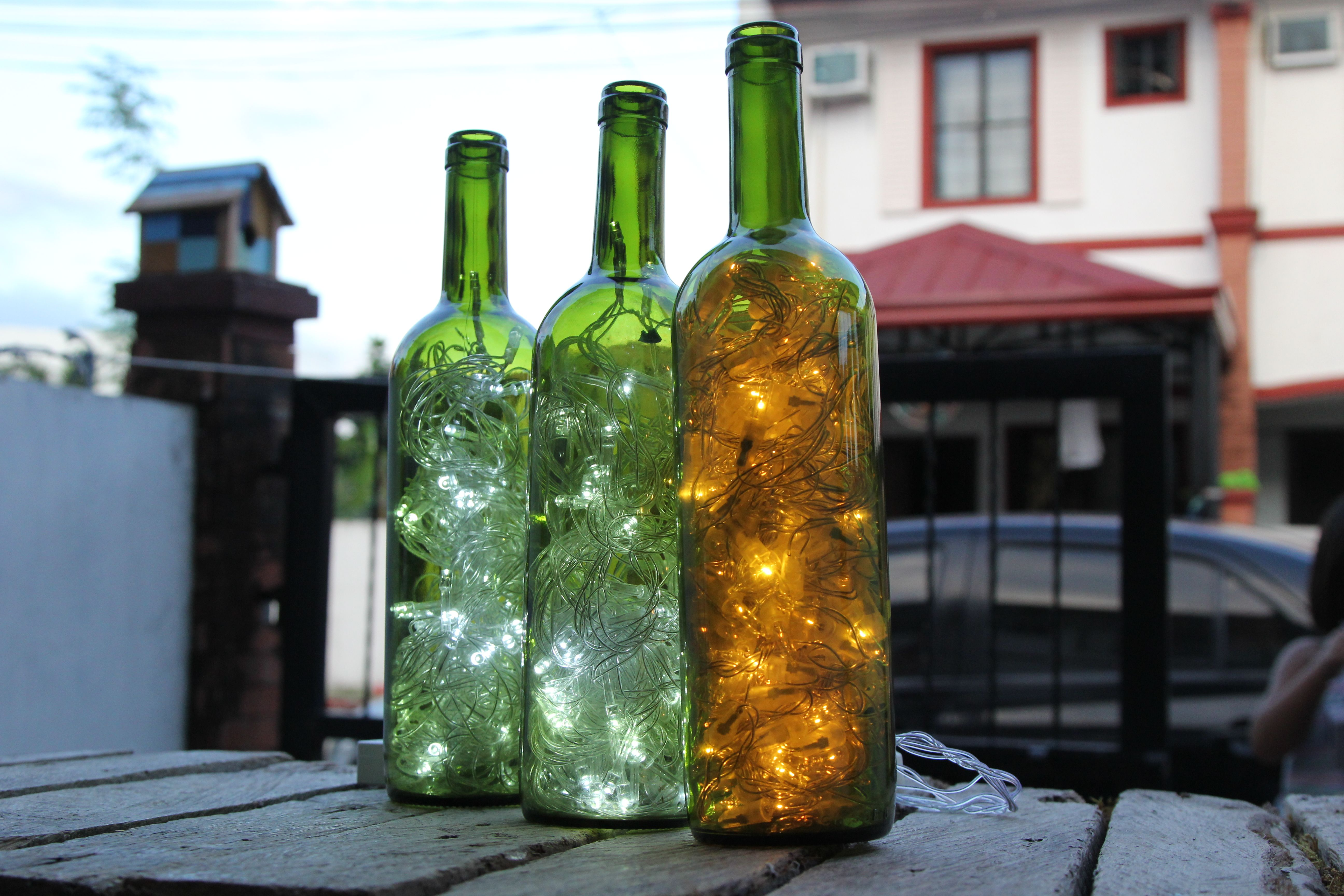How to Make Wine Bottle Accent Lights -- via wikiHow.com